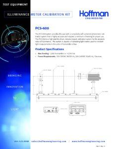Illuminance Meter Calibration Kit data sheet