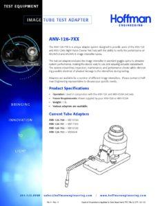 Image Tube Test Adapter data sheet