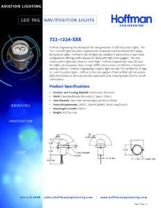 LED Tail Position Navigation Lights data sheet