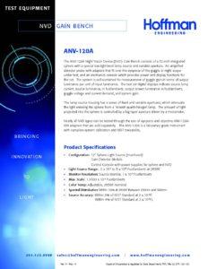 NVD Gain Bench data sheet