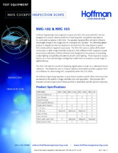NVIS Inspection Scope data sheet