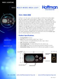 NVIS Multi-Mode Area Light data sheet