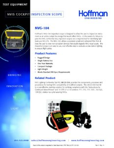 NVIS Pocket Inspection Scope data sheet