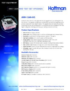 Portable NVD Test Set Upgrade data sheet